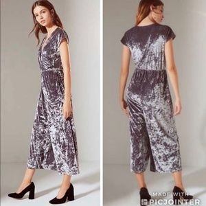 UO Isabella Jumpsuit Velvet Jumpsuit